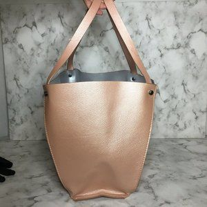 Neiman Marcus large faux Leather tote bag